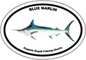 Bumper Sticker Blue Marlin