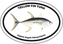 Bumper Sticker Yellow Fin Tuna